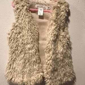 Beautiful girls fur vest